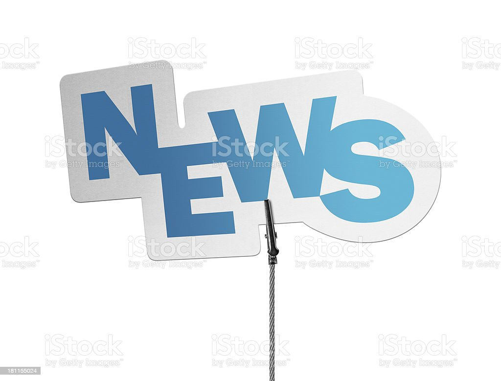 News, Speech Bubble in Wire Clam royalty-free stock photo