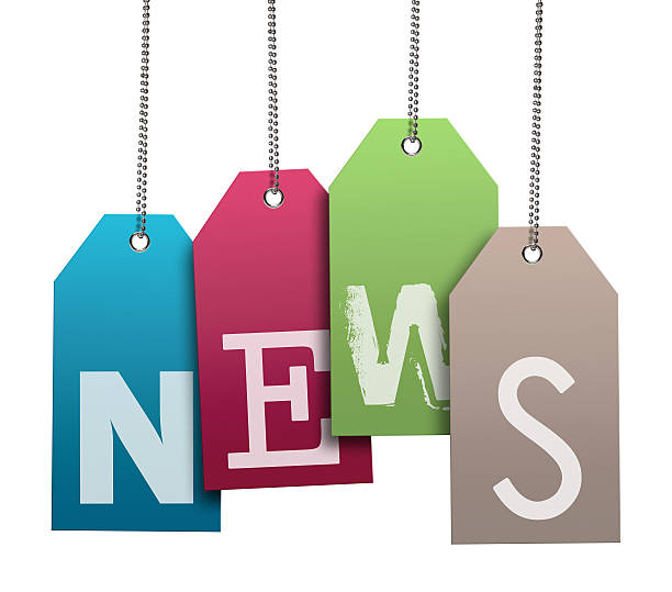 News, Speech Bubble (Clipping Path)  newspaper cutouts of bad news headlines stock pictures, royalty-free photos & images