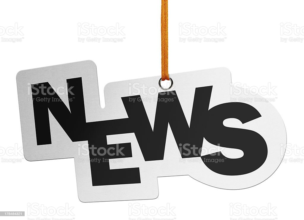 News, Speech Bubble (Clipping Path) royalty-free stock photo