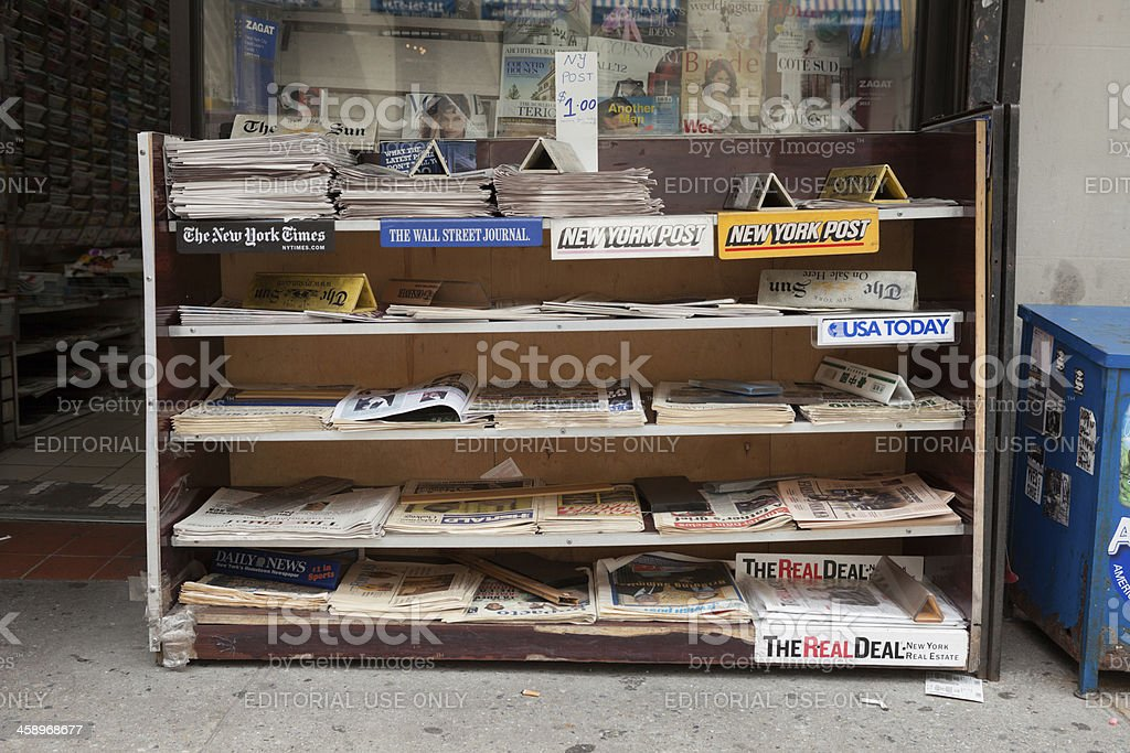 News Stand stock photo