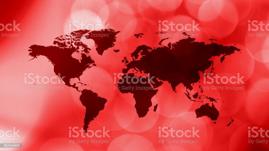 News symbol earth map, latest news background stock photo