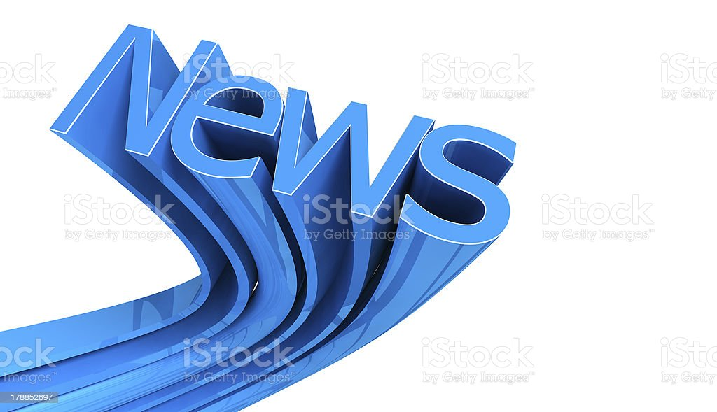 News text over white royalty-free stock photo