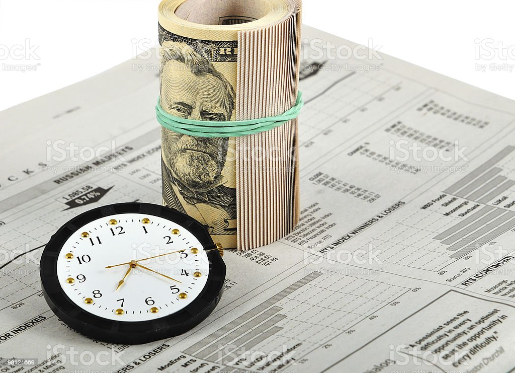 News, Time And Money royalty-free stock photo