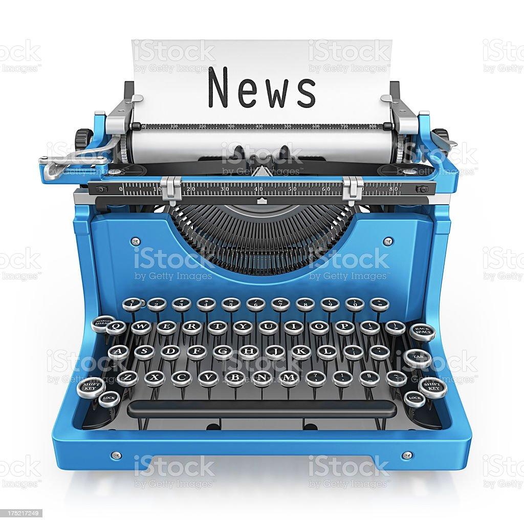 news typewriter royalty-free stock photo