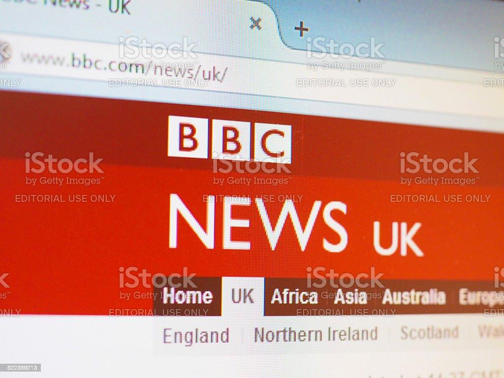 BBC News UK stock photo