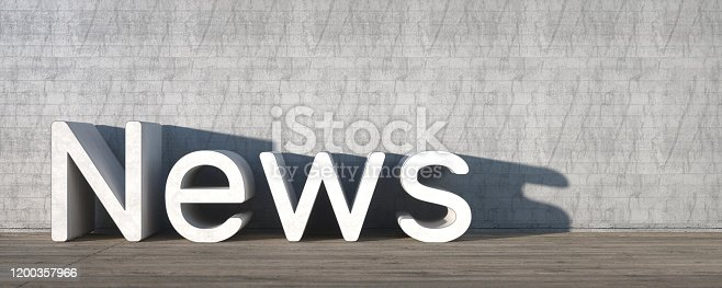 1132886484 istock photo News With Empty Space on Left Side. 3D Rendering 1200357966