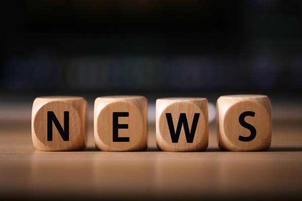 Noticias de bloques de madera - foto de stock