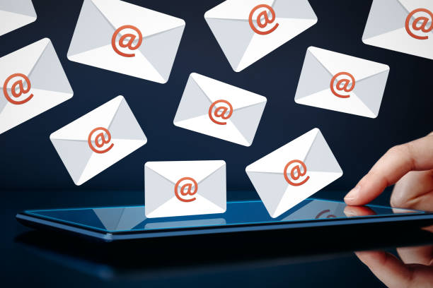 Newsletter and email marketing concept stock photo