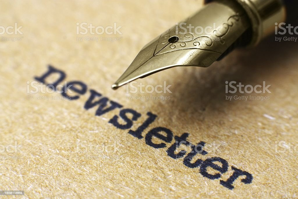 Newsletter and pen royalty-free stock photo