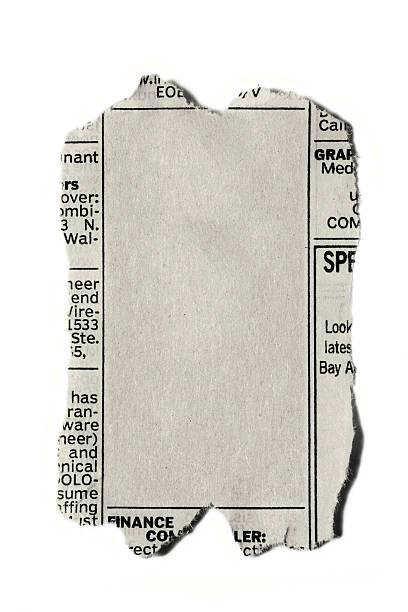 Newspaper Ad stock photo
