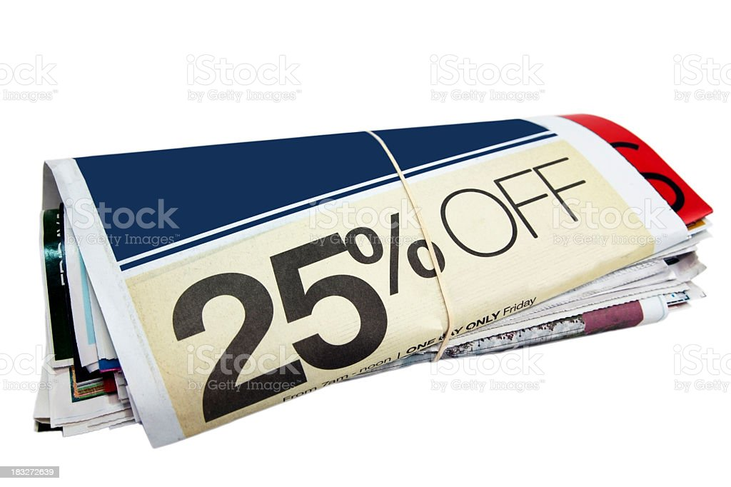 Newspaper Advertising Supplement royalty-free stock photo