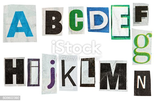474062446istockphoto Newspaper alphabet 505602392