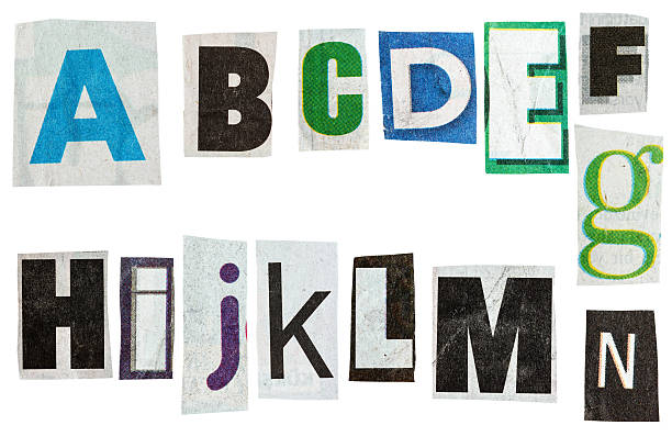 Newspaper alphabet stock photo