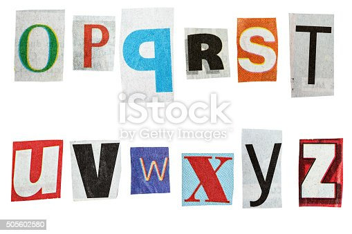 474062446istockphoto Newspaper alphabet 505602580