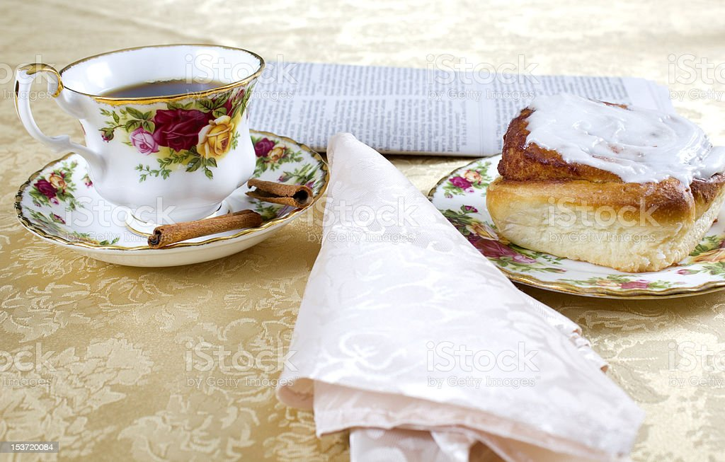 newspaper and coffee royalty-free stock photo