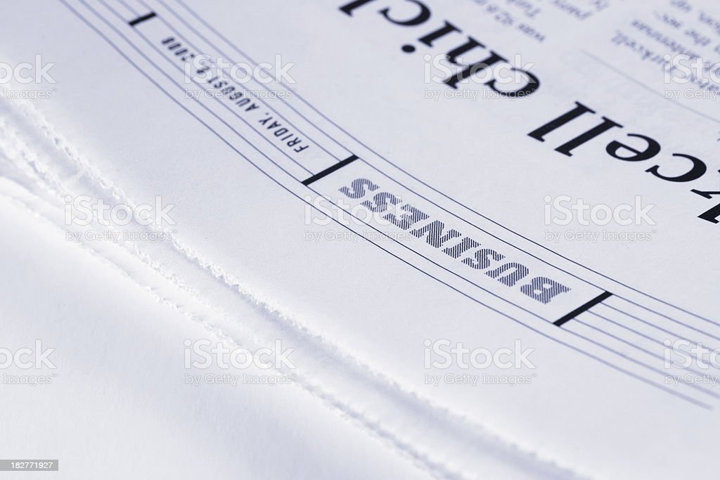 Newspaper Business Page royalty-free stock photo