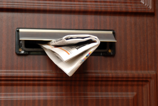 Newspaper delivery.