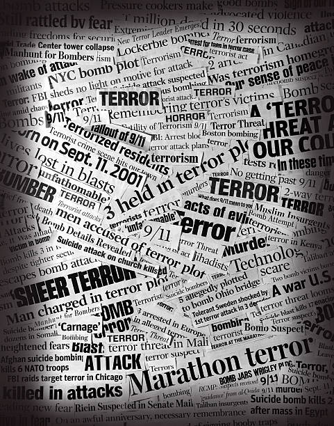 TERROR  Newspaper Headline Collage Please consider my light-box that contains several successful images in the