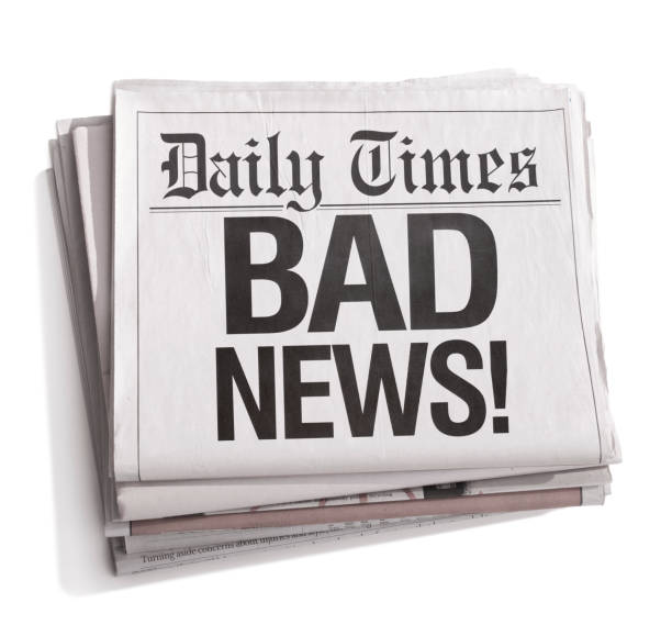 Newspaper Headlines Bad News Newspaper Headlines Bad NewsClick here to see all of my Newspaper images: newspaper cutouts of bad news headlines stock pictures, royalty-free photos & images