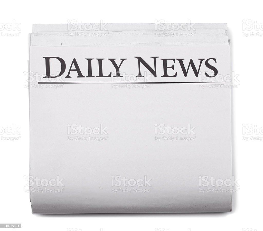 Newspaper Headlines Blank royalty-free stock photo