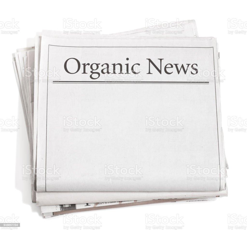 Zeitung Schlagzeilen Bio-Nachricht – Foto
