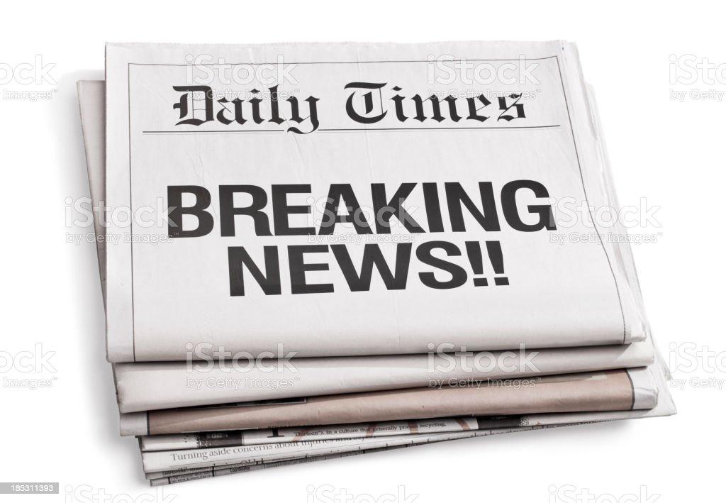 Newspaper Headlines royalty-free stock photo