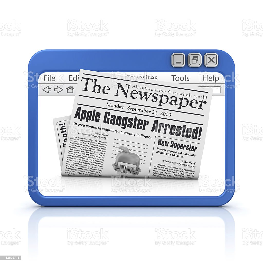 newspaper in browser royalty-free stock photo