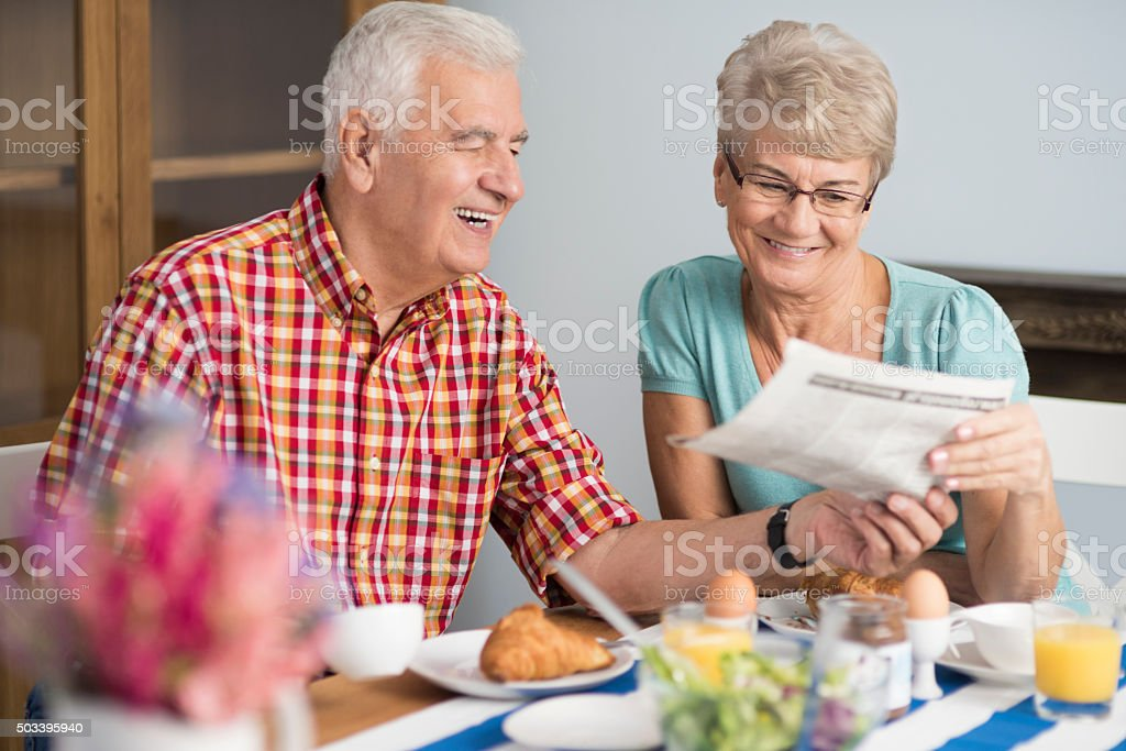 Newspaper is an everyday routine stock photo