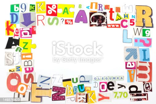 812461124 istock photo newspaper letters  frame 149376823