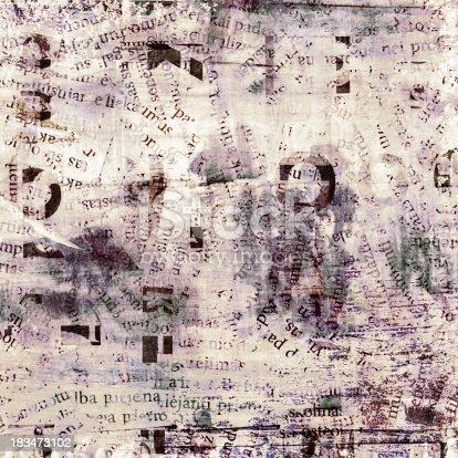 istock newspaper, magazine collage grunge background 183473102