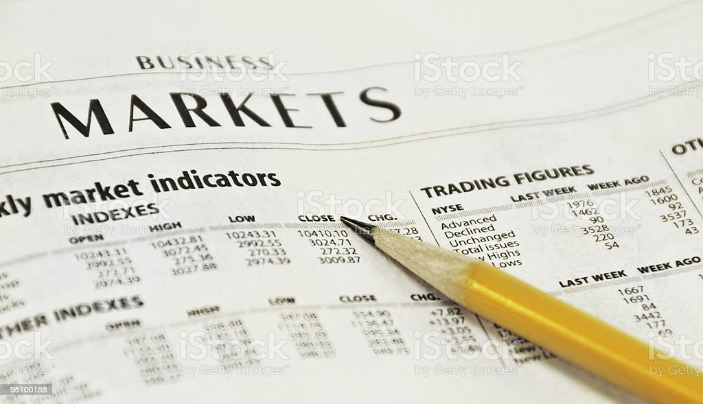 Newspaper Market Report royalty-free stock photo
