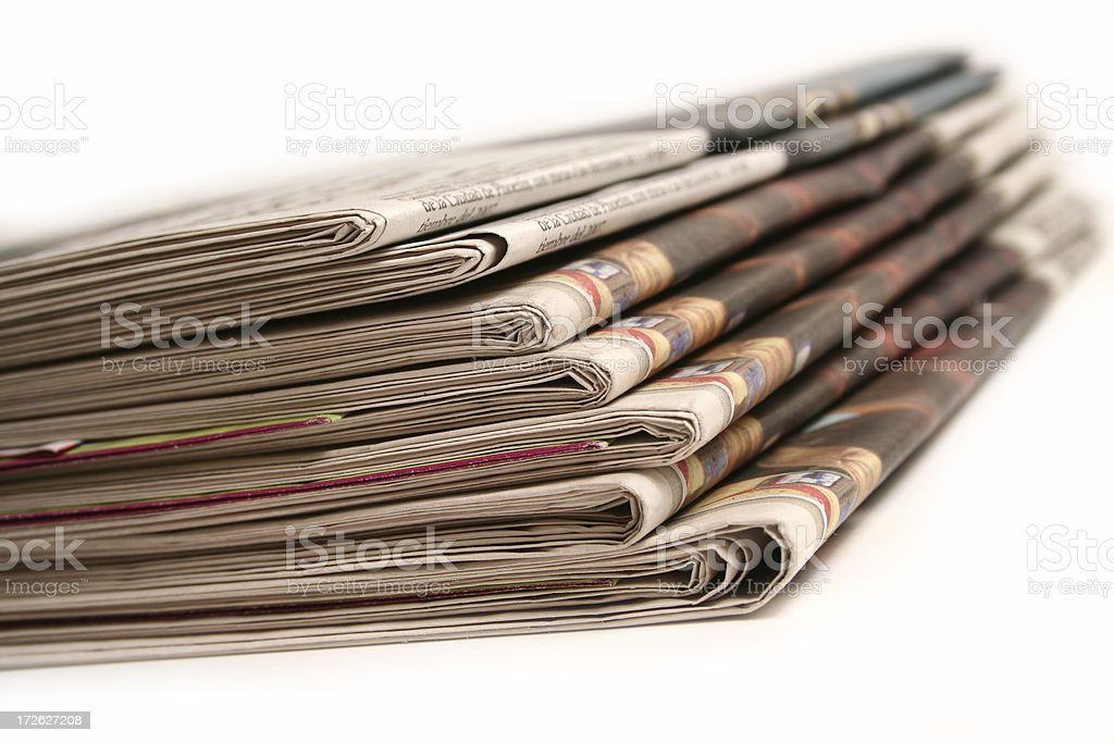 Newspaper on white background royalty-free stock photo