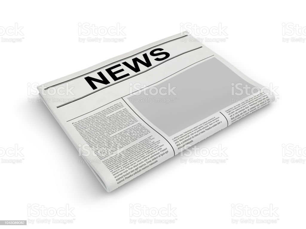 newspaper on white blank newspaper 3d rendering stock photo & more