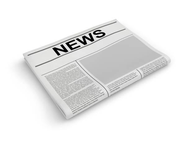 Zeitung auf weiß. Leere Zeitung. 3D-Rendering – Foto