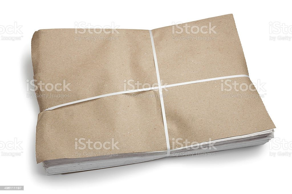 Newspaper package royalty-free stock photo