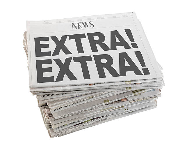 newspaper extra news perks stock pictures, royalty-free photos & images