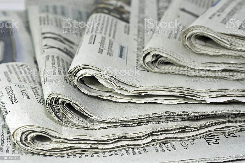 newspaper stock photo