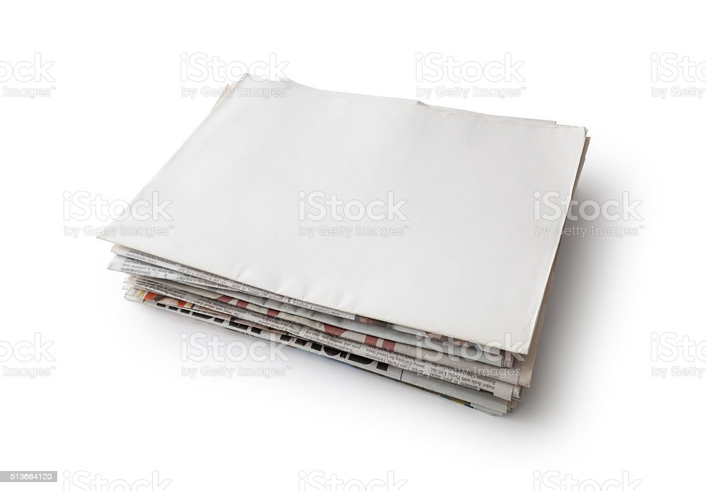 Newspaper stock photo