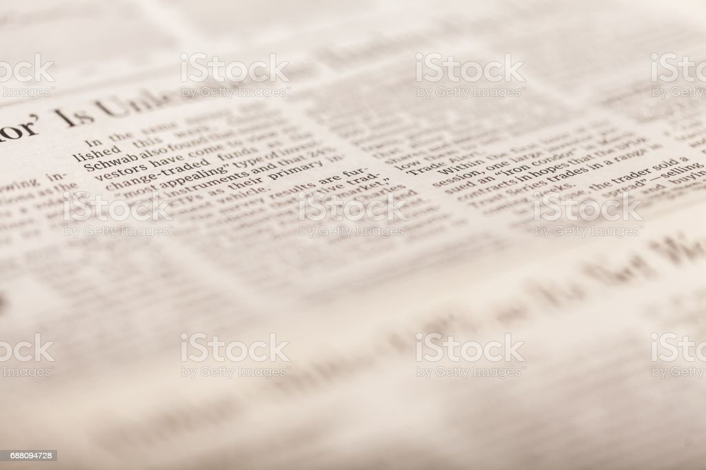 Newspaper. stock photo