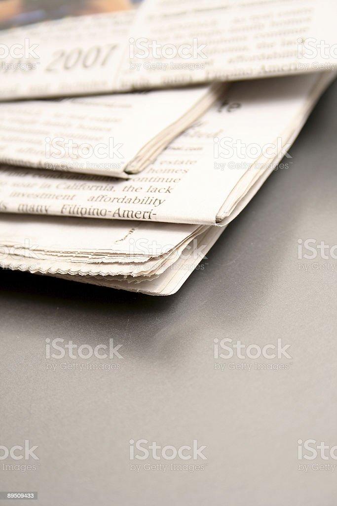 Journal quotidien photo libre de droits