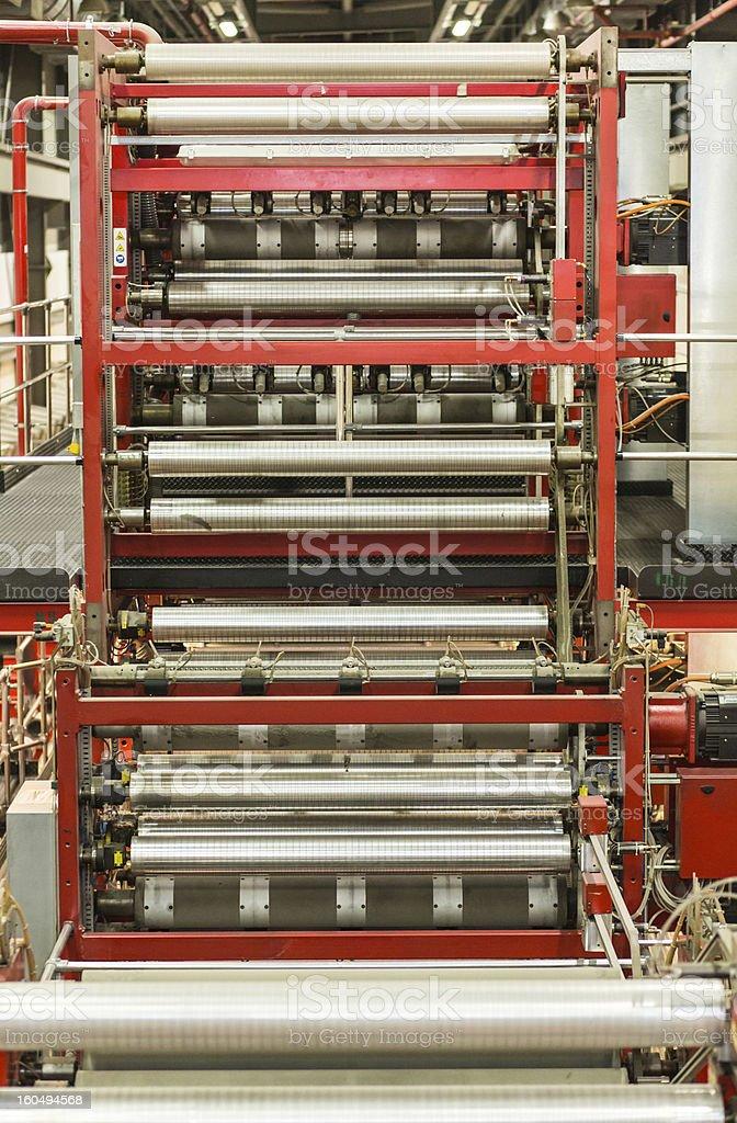 Newspaper Press stock photo