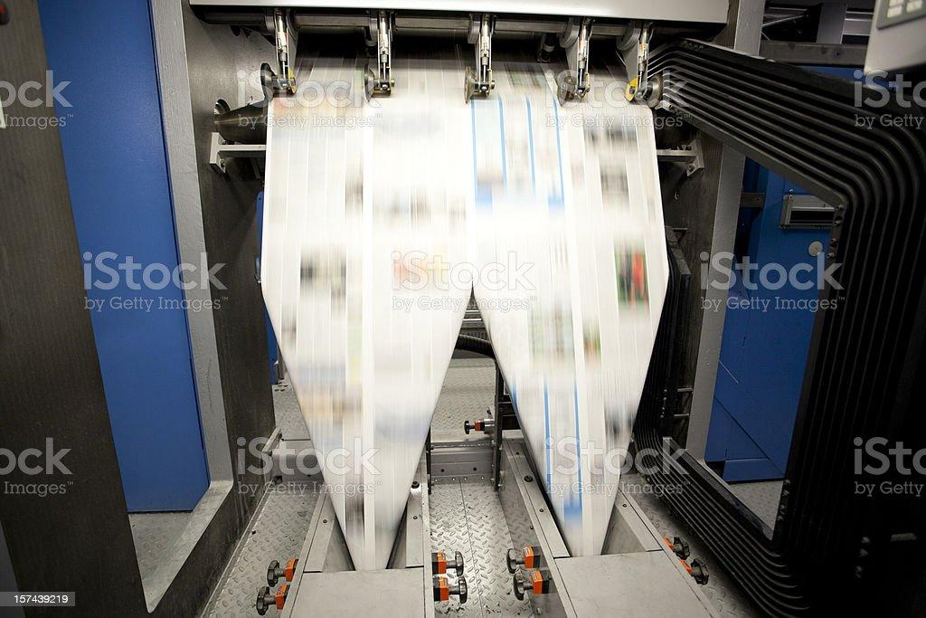 Newspaper Press--Folding royalty-free stock photo