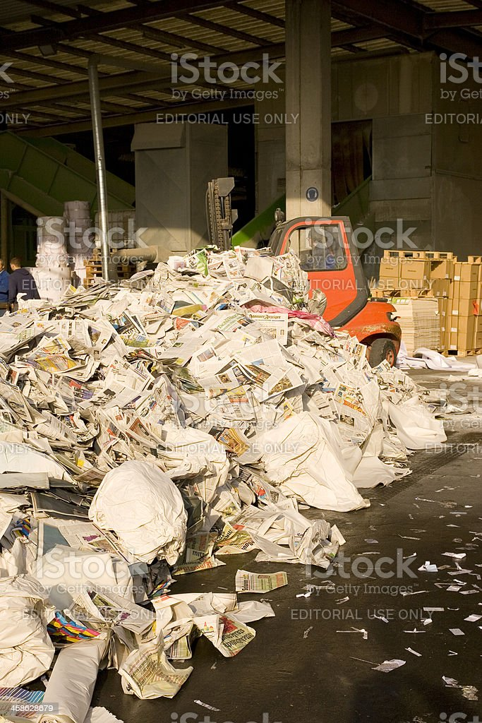 Newspaper Recycling royalty-free stock photo