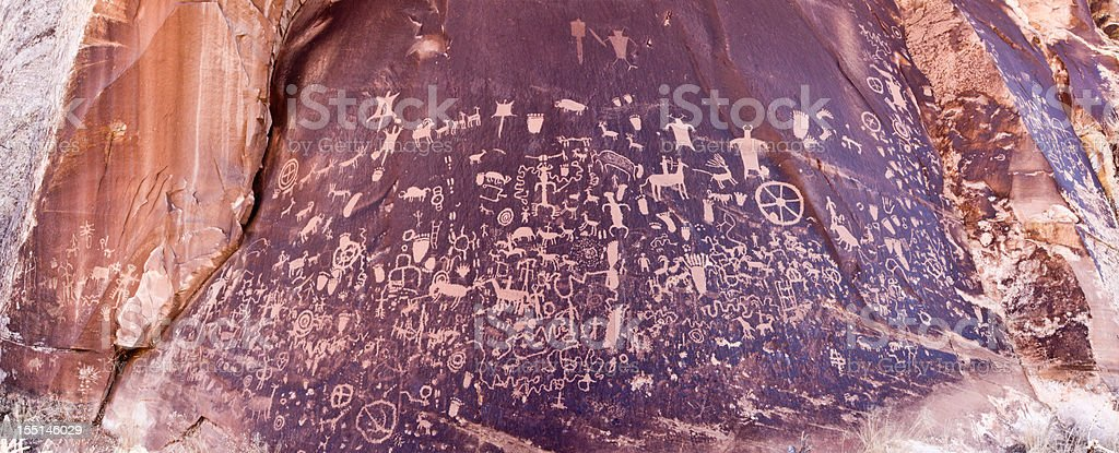Newspaper Rock Pictograph stock photo