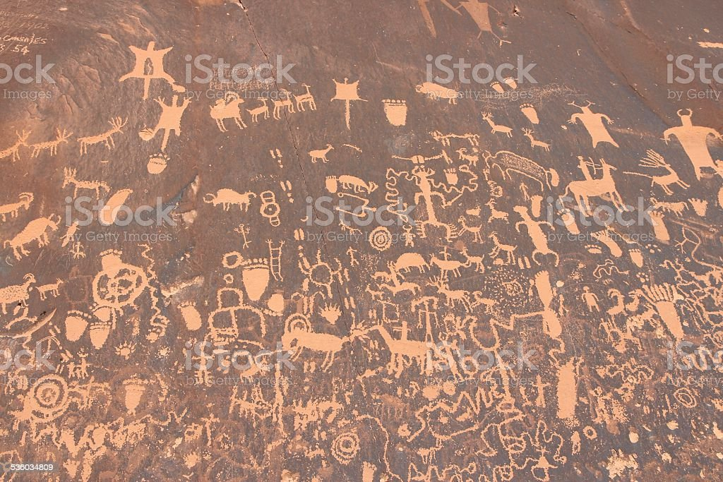 Newspaper Rock stock photo