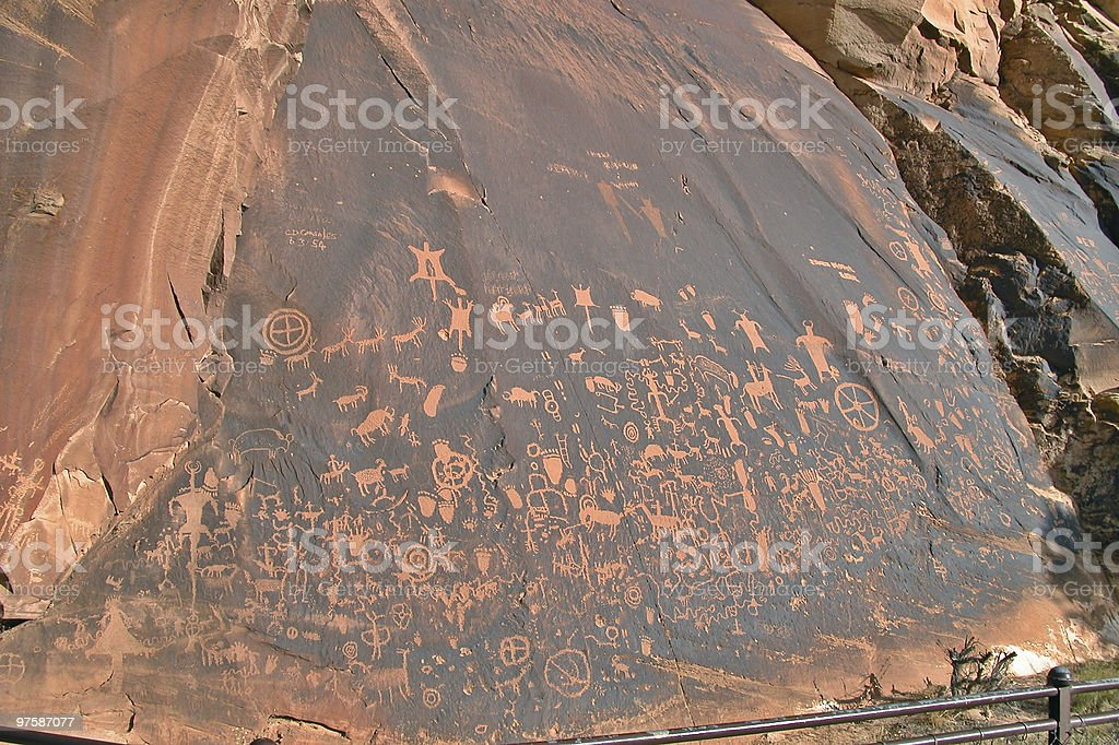 Newspaper Rock royalty-free stock photo