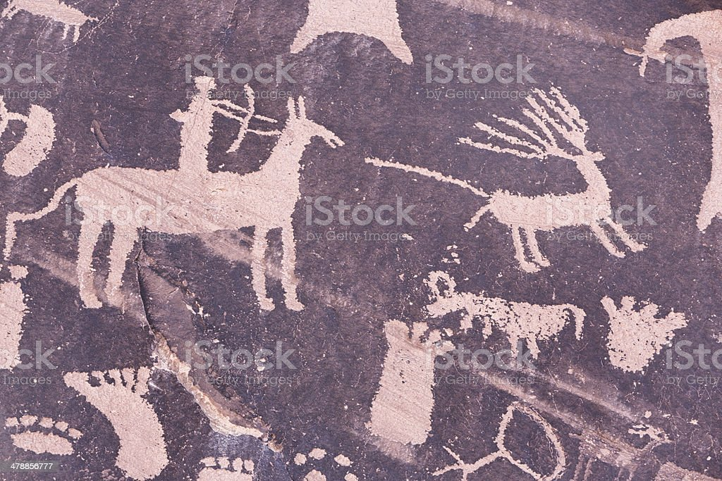 Newspaper Rock, Southeast Utah stock photo