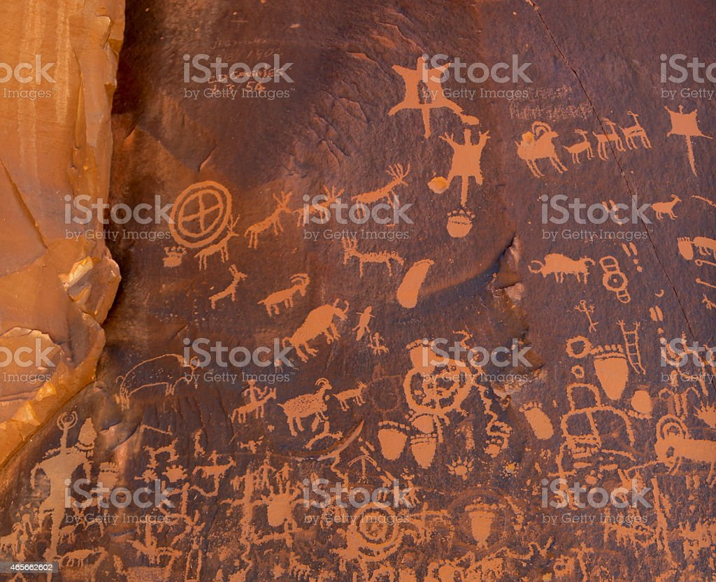Newspaper Rock, Utah stock photo