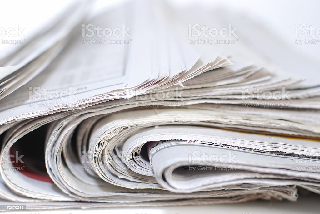 Newspaper Roll royalty-free stock photo
