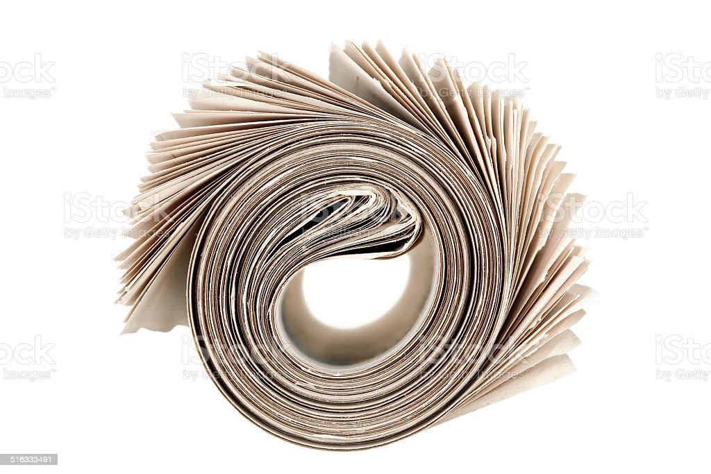 newspaper roll stock photo